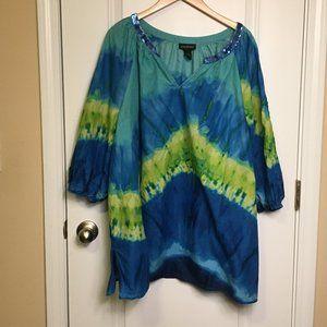 Layne Bryant Top Cotton Tie-Dye 26/28